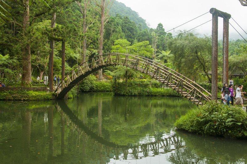 溪頭福華渡假飯店周邊知名景點「大學池」,風光明媚。 業者/提供