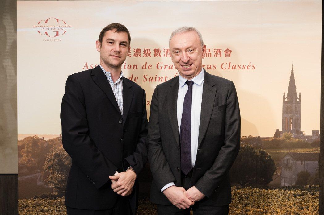 法國在台協會主任公孫孟(右)與業者合影。 太樺公司/提供
