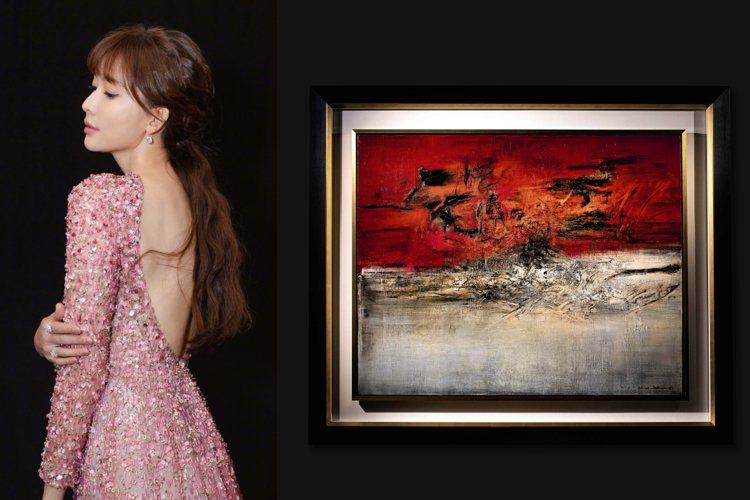 林志玲將擔任現代藝術導賞員,為各地藏家介紹重點拍品。圖/蘇富比提供