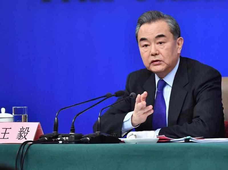 大陸國務委員兼外長王毅。新華社資料照片