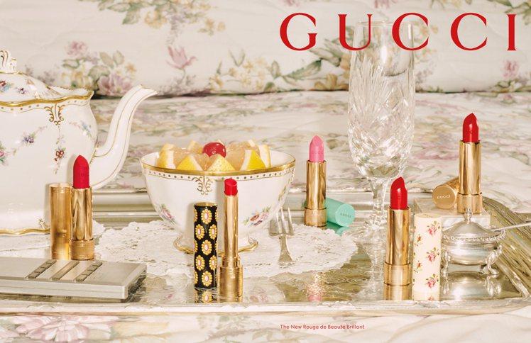 Gucci Beauty全新推出傾色琉光唇膏。圖/Gucci提供