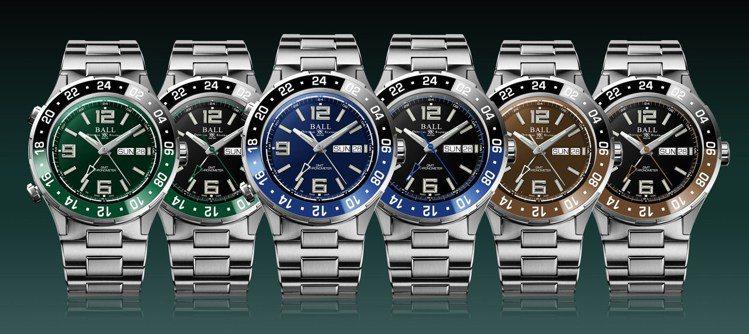 Ball Watch Roadmaster Marine GMT腕表具備黑綠、黑...
