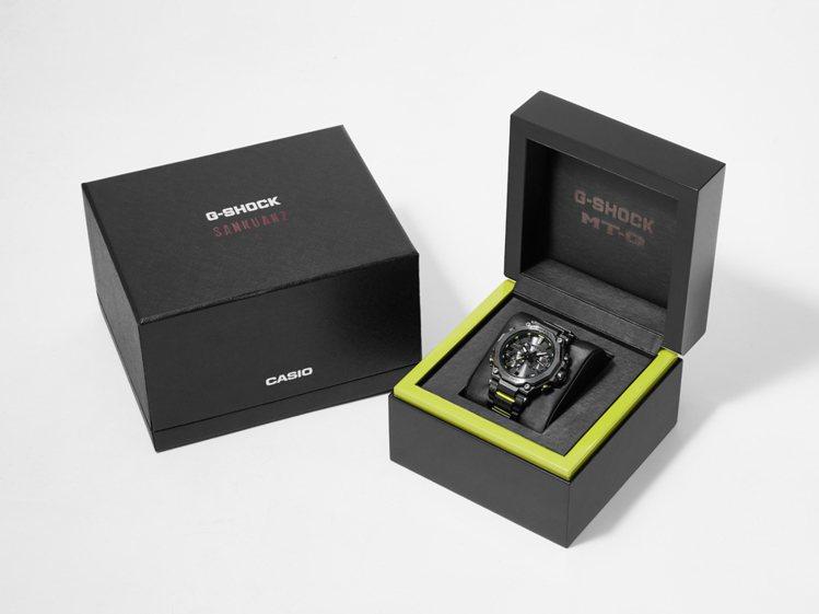 系列外盒包裝也延續黑與螢光綠的撞色設計,藉以呼應表款風格。圖/Casio提供
