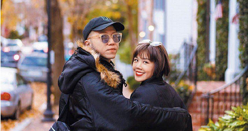 大飛(左)和楊晨熙宣布分手。圖/摘自臉書