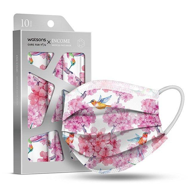屈臣氏將於4月3日開賣「屈臣氏 X 銀康醫療防護口罩」-珍寵嬌花,10片裝特價1...