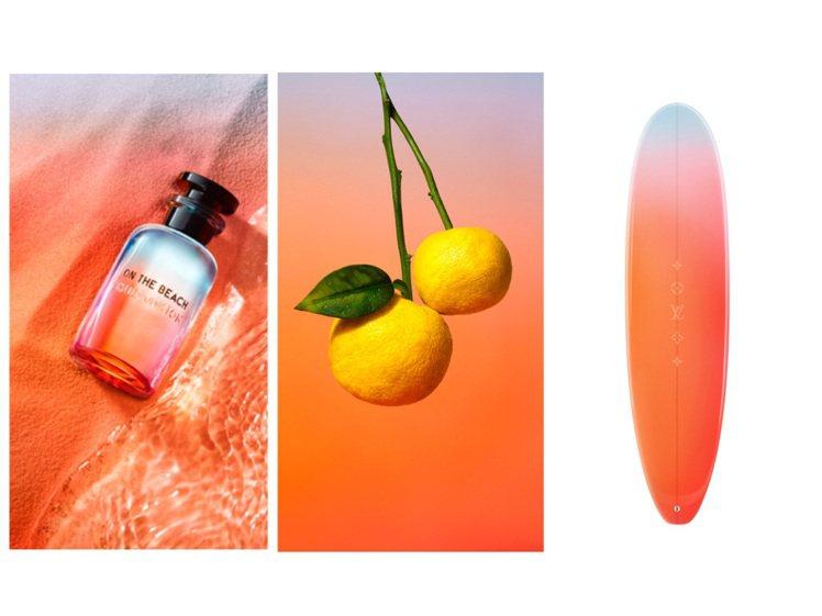 夏日香水系列以漸層瓶身做為標誌設計,推出全新的On the Beach香水。圖/...