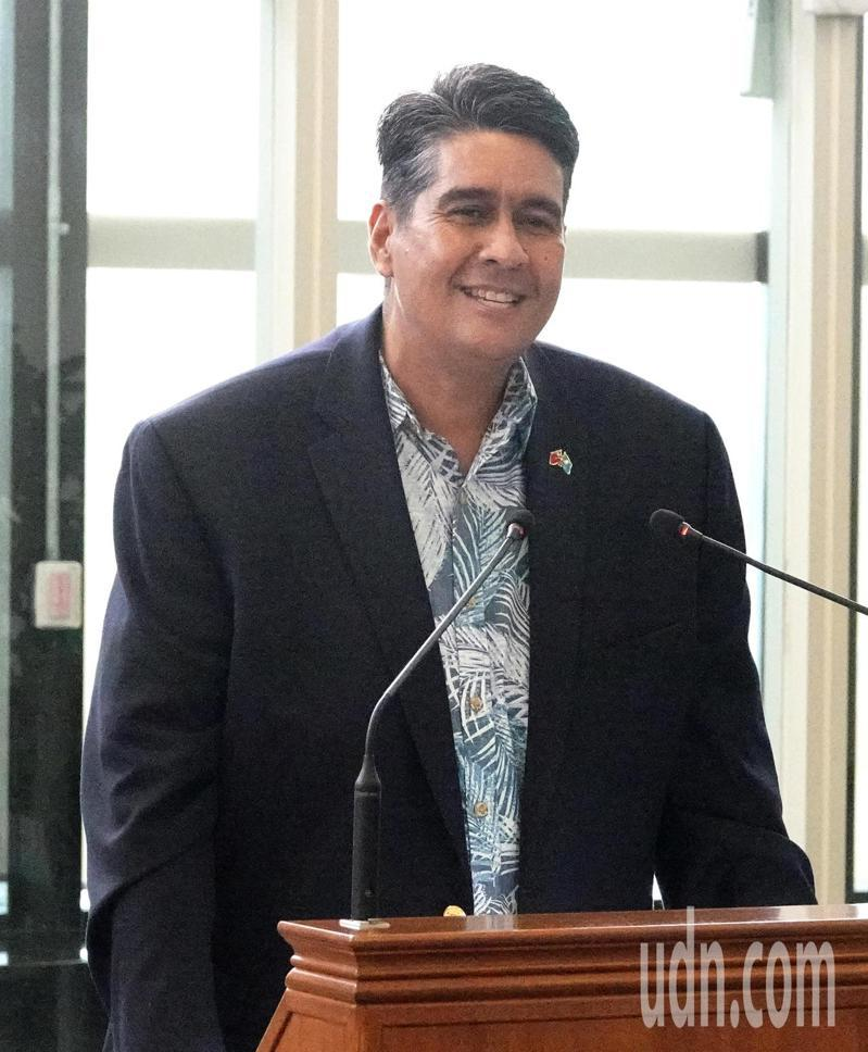 帛琉總統惠恕仁。記者陳嘉寧/攝影