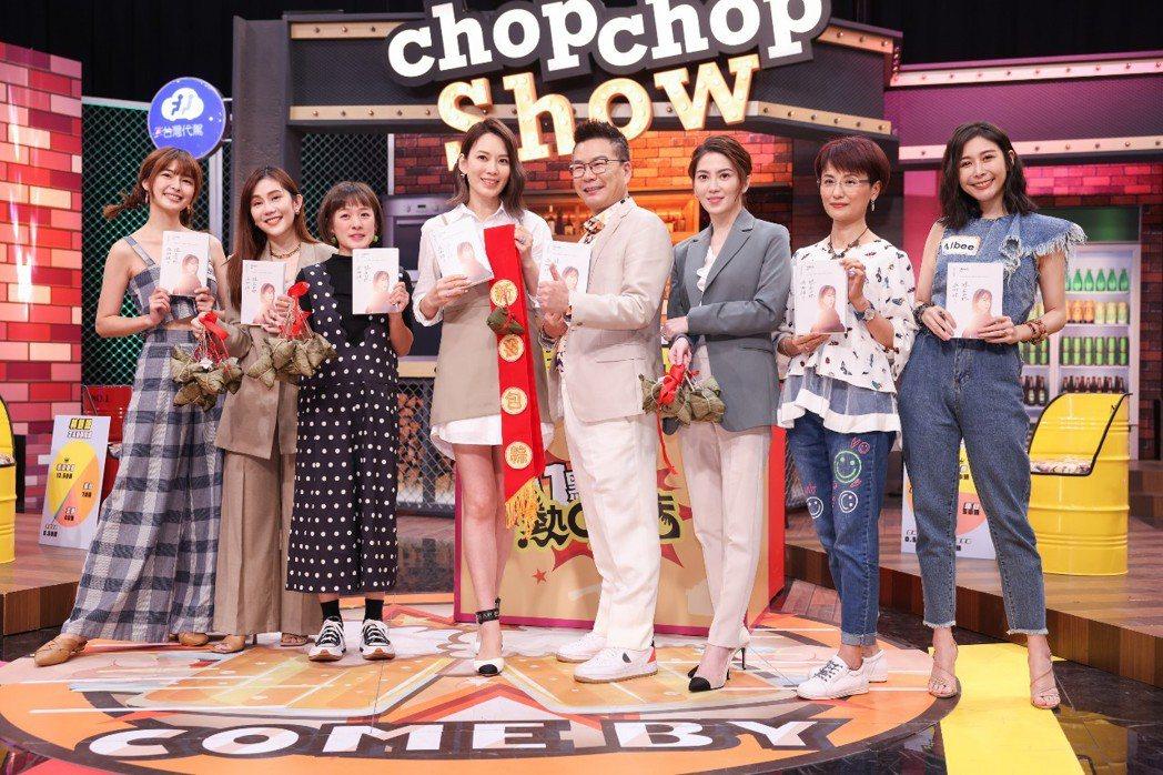 Melody出第6本書,節目幫忙推銷宣傳。記者沈昱嘉/攝影