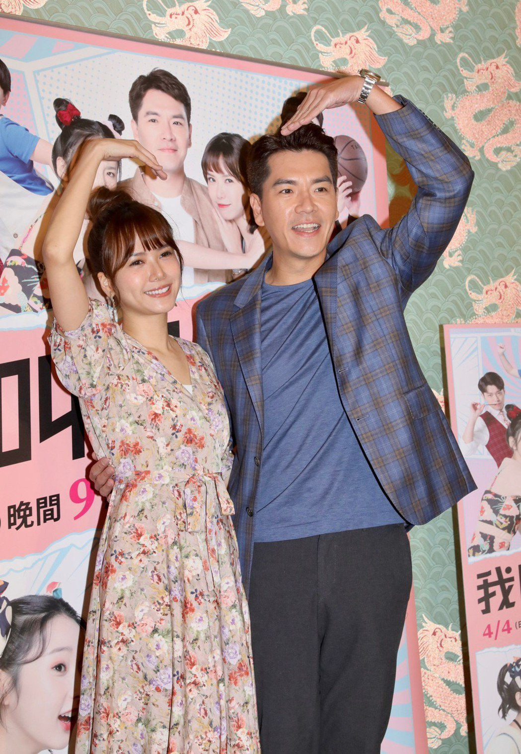 王傳一(右)是方語昕徂從小的偶像。記者李政龍/攝影