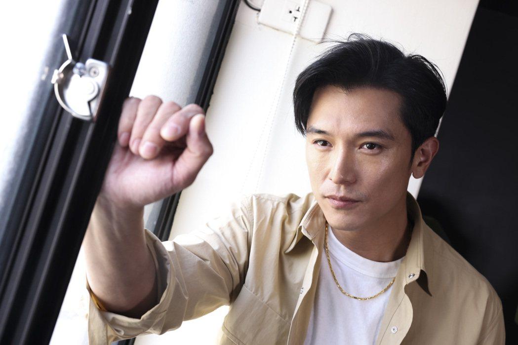 邱澤在新片「當男人戀愛時」展現鐵漢柔情反差魅力。記者王聰賢/攝影
