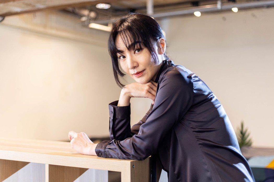 陽靚在「愛‧殺」有驚人表現。記者沈昱嘉/攝影