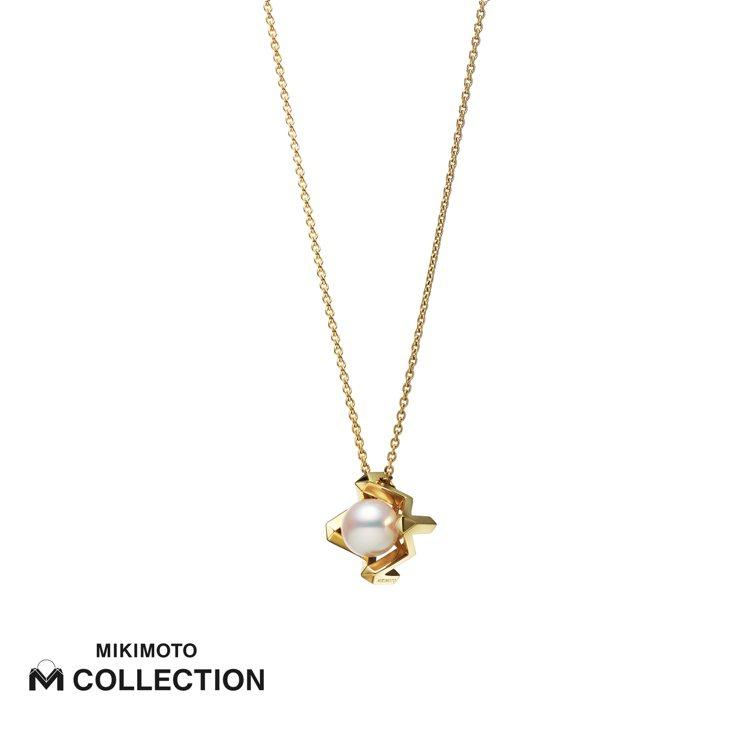 MIKIMOTO M Collection 18K黃金墜鍊,63,000元。圖/...