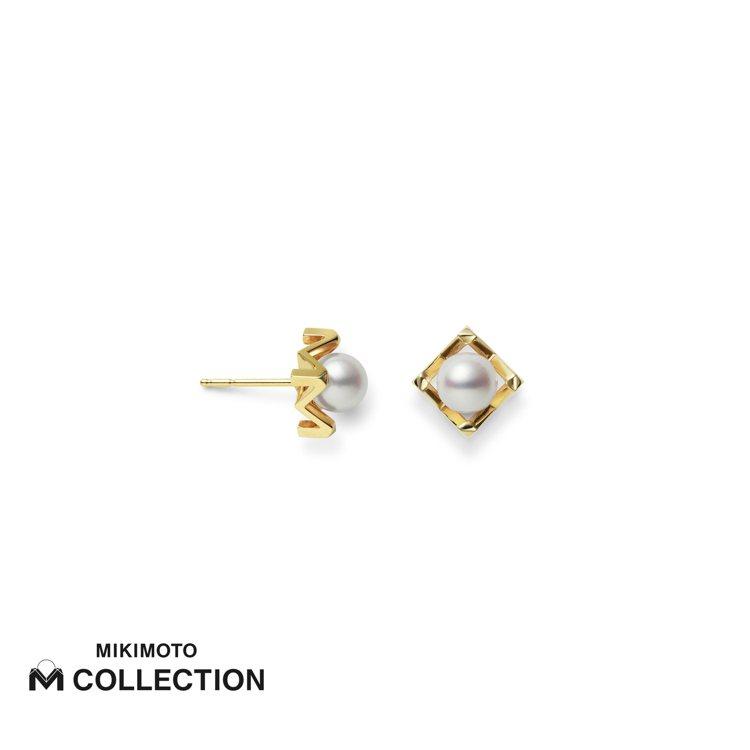 MIKIMOTO M Collection 18K黃金耳環,40,000元。圖/...