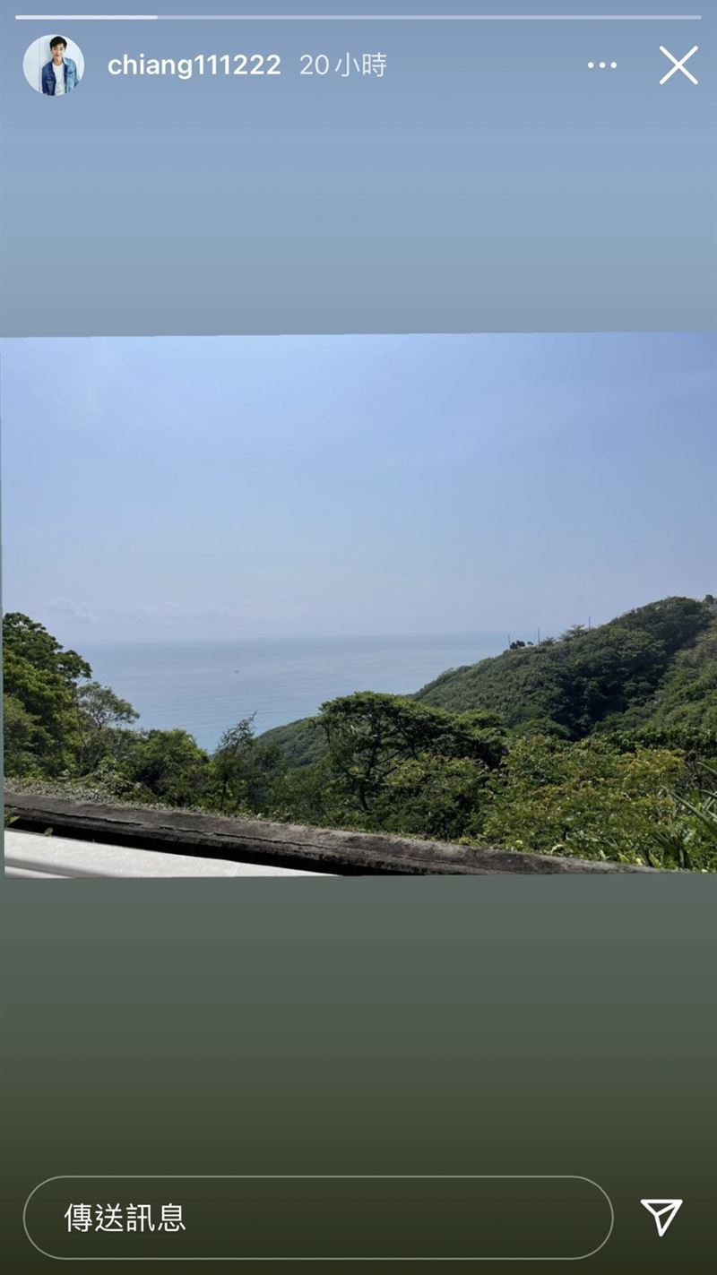 江宏傑分享的風景照,網友看起來卻覺得不對勁。 圖/擷自江宏傑IG