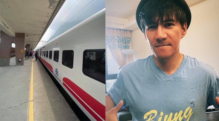 王宏恩今天搭火車回台東,臉書發文報平安。圖/擷自臉書