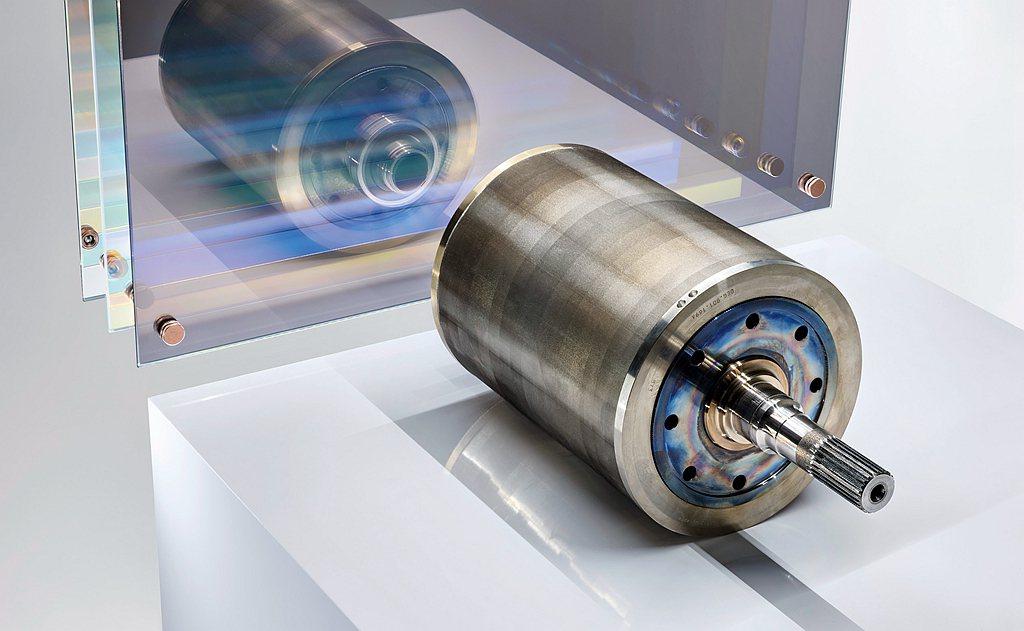 轉子內填滿了呈V形排列的永久磁鐵。 圖/Porsche提供