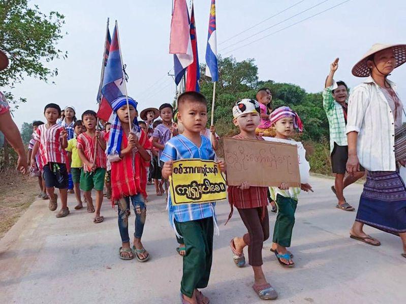 國際人權組織統計,緬甸至少43名孩童遭軍方槍殺,年紀最小的才6歲。法新社