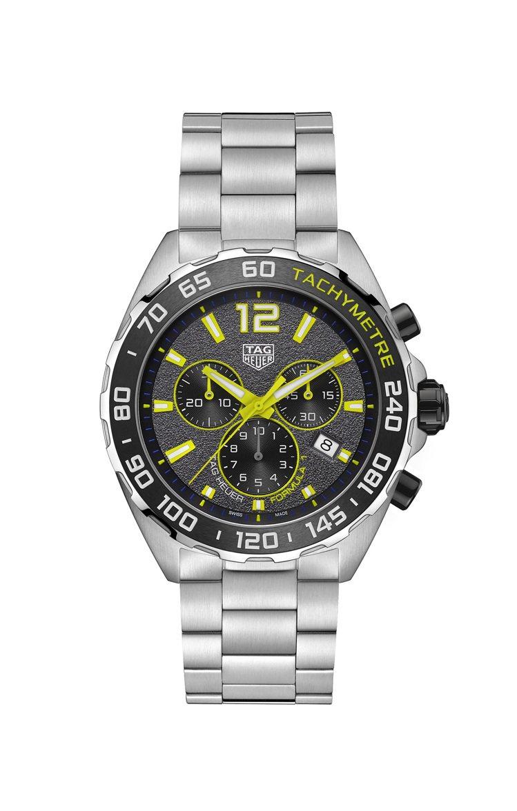泰格豪雅F1系列計時碼表,精鋼表殼、表鍊搭配陶瓷表圈,搭載石英機芯,約67,30...