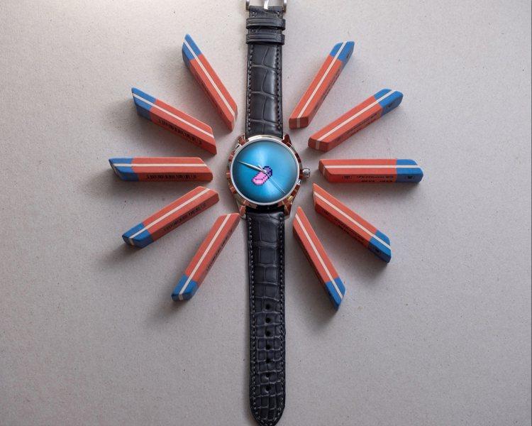 藉由像素藝術的討喜表現,H.Moser & Cie勇創者大三針概念腕表,...