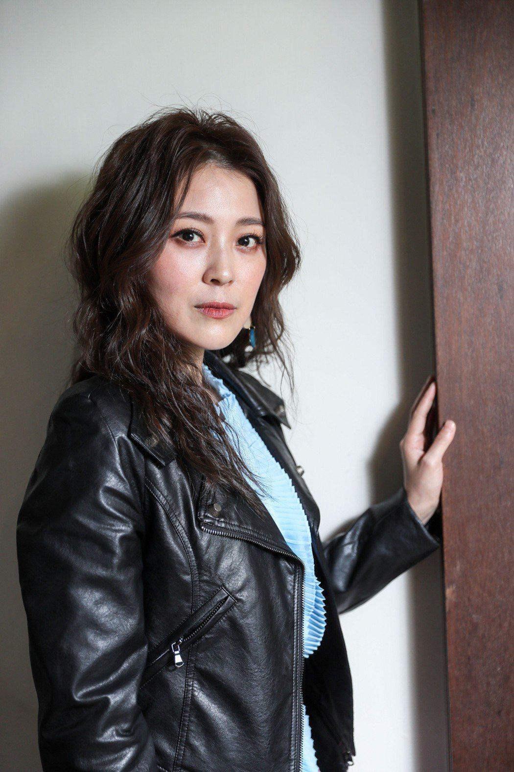 專訪卓文萱舞台劇「情人哏裡出西施」。記者李政龍/攝影