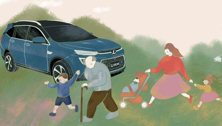 隨著高齡社會來臨,休旅車逐漸受到重視。圖/納智捷提供