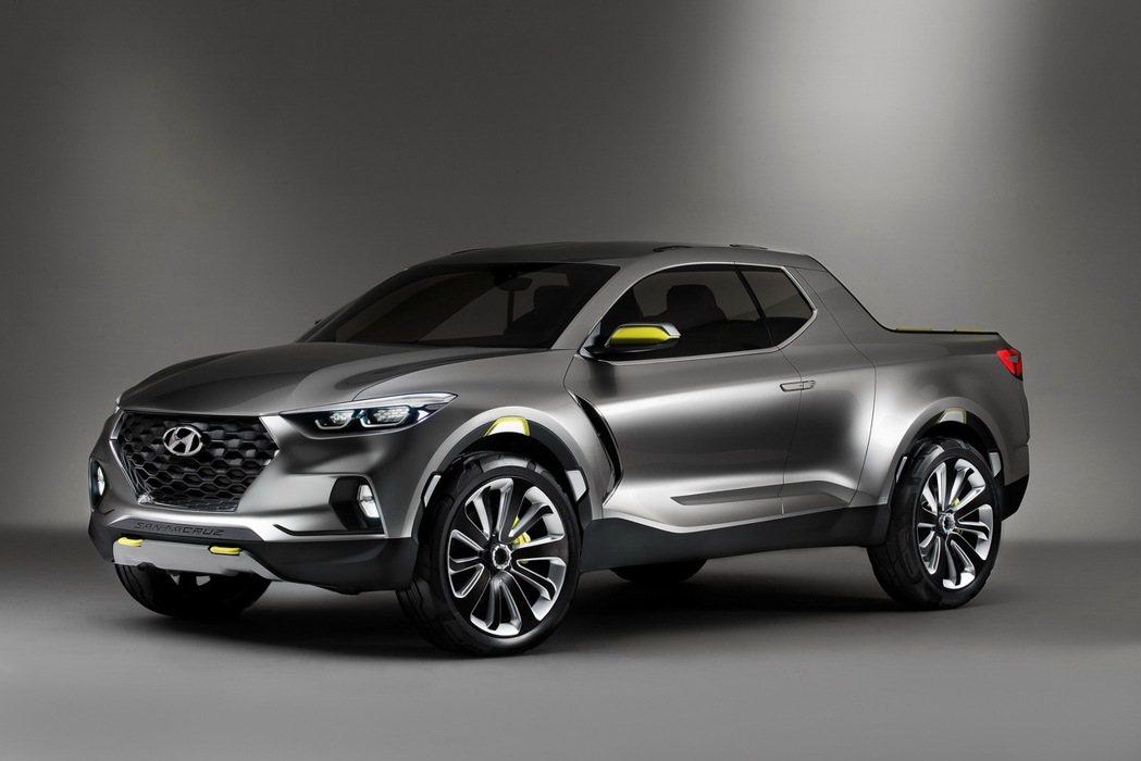 圖為2015年亮相的Hyundai Santa Cruz Crossover T...