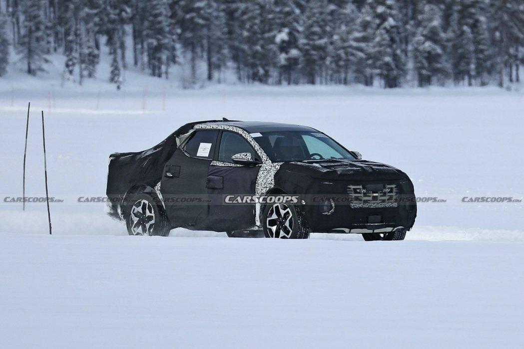 全新Hyundai Santa Cruz韓系皮卡確定發表。 摘自Carscoop...
