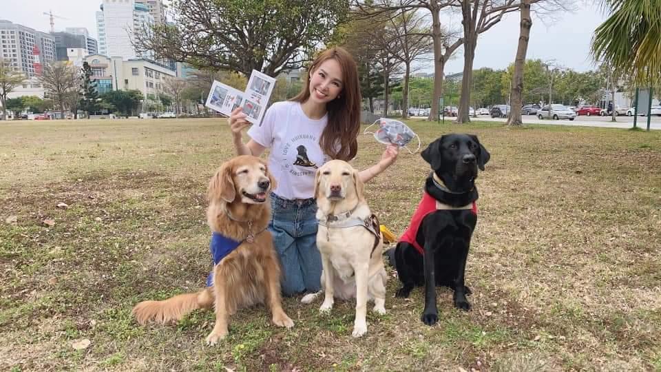 張齡予先前投入導盲犬公益活動。圖/摘自臉書