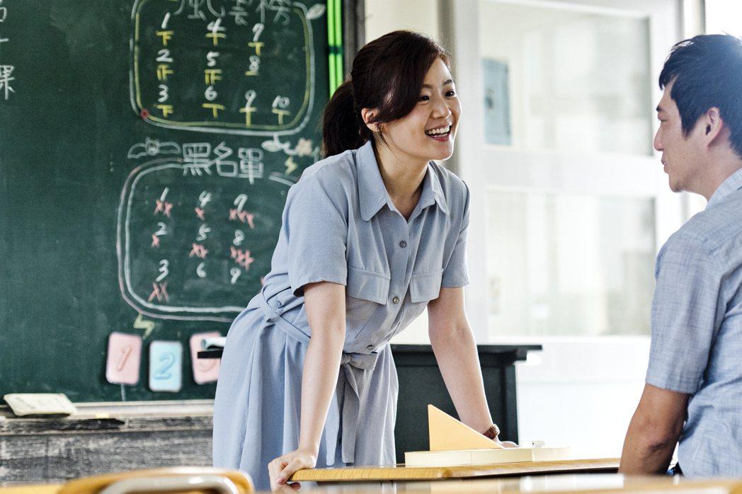 藍葦華與楊小黎在「期末考」中爭奪教師聘任資格。圖/海鵬提供