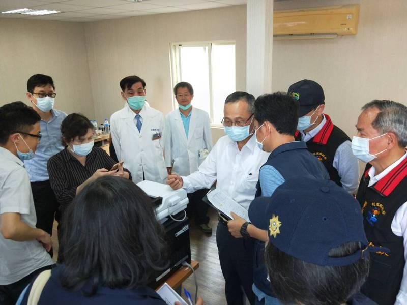 警政署長陳家欽上午親赴花蓮關心事故處理狀況。記者李隆揆/翻攝