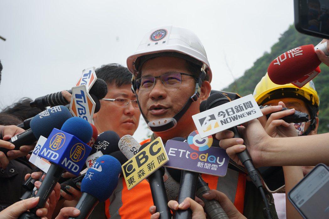 林佳龍今天表示,「該負責任的事情,不會迴避」。記者王燕華/攝影