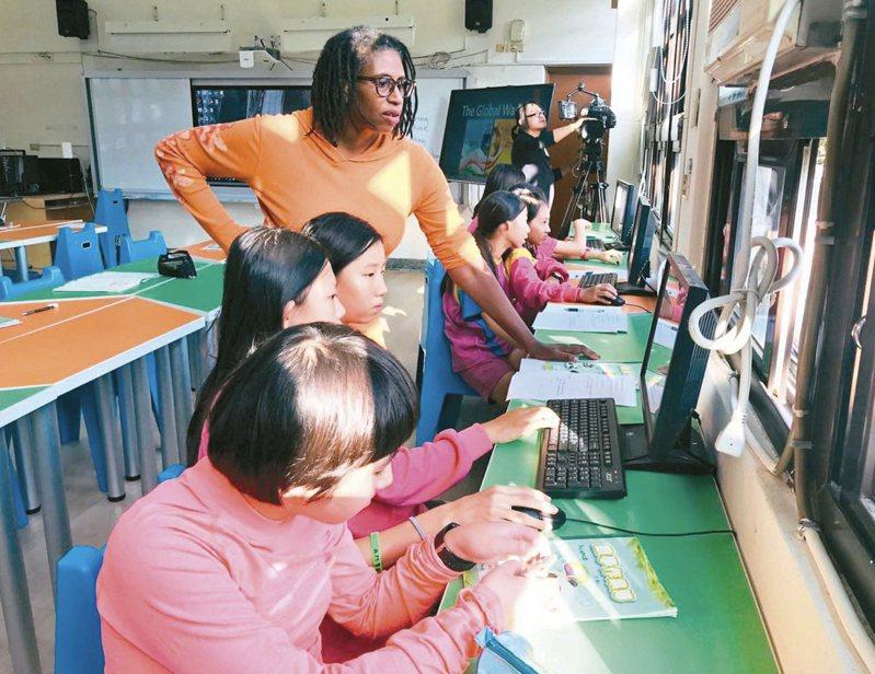 台南市教育局啟動雙語學校倍增計劃。圖/台南市西門國小提供