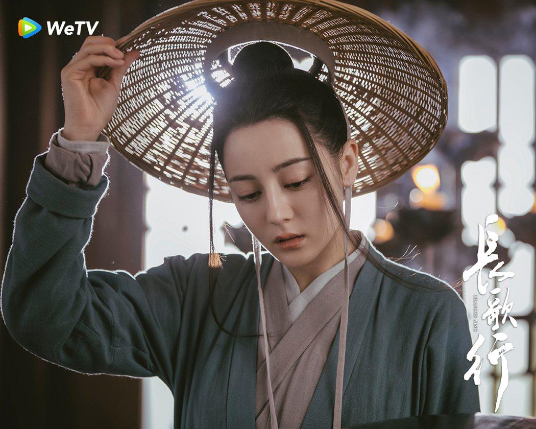 「長歌行」戲中,迪麗熱巴女扮男裝。圖/WeTV海外站提供