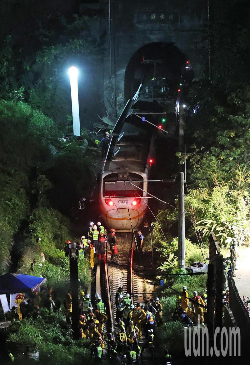 台鐵太魯閣號408車次列車意外,造成重大人員傷亡。本報資料照片