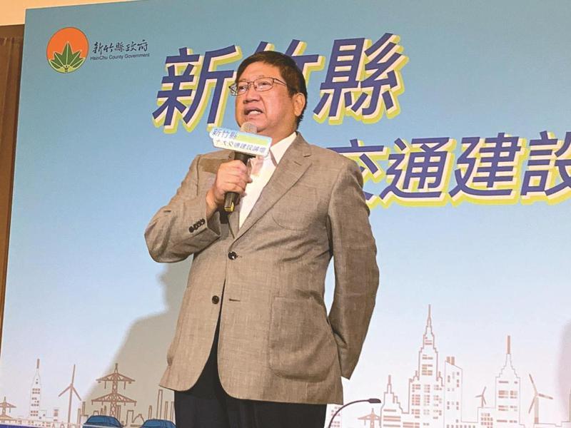 新竹縣長楊文科說,他將捐出自己的一個月薪資所得至衛福部賑災專戶,略盡棉薄之力。本報資料照片
