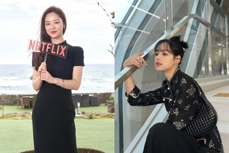 全汝彬、Lisa配戴寶格麗珠寶。圖/取自IG