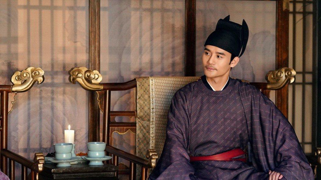 王凱在宮廷劇「孤城閉」中飾演宋仁宗。圖/中視提供