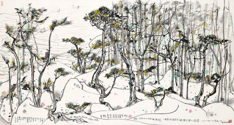 吳冠中「誤入嶗山」設色紙本鏡框,估價2,600萬港元起。圖/佳士得提供