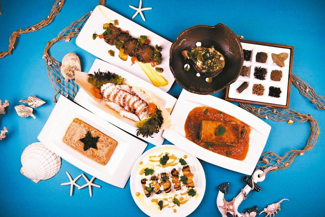 以宜蘭在地海味結合康烹調手法的地中海料理。業者/提供