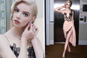 紅毯精靈安雅泰勒喬伊香檳色X黑蕾絲禮服美出新高度!養出纖細仙女體態全靠「低醣飲食」