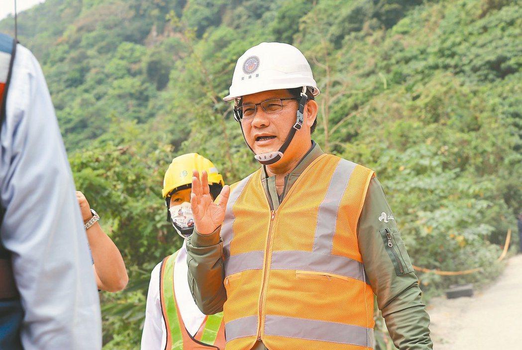 林佳龍昨晚在臉書上正式宣布辭去交通部長一職。記者余承翰/攝影