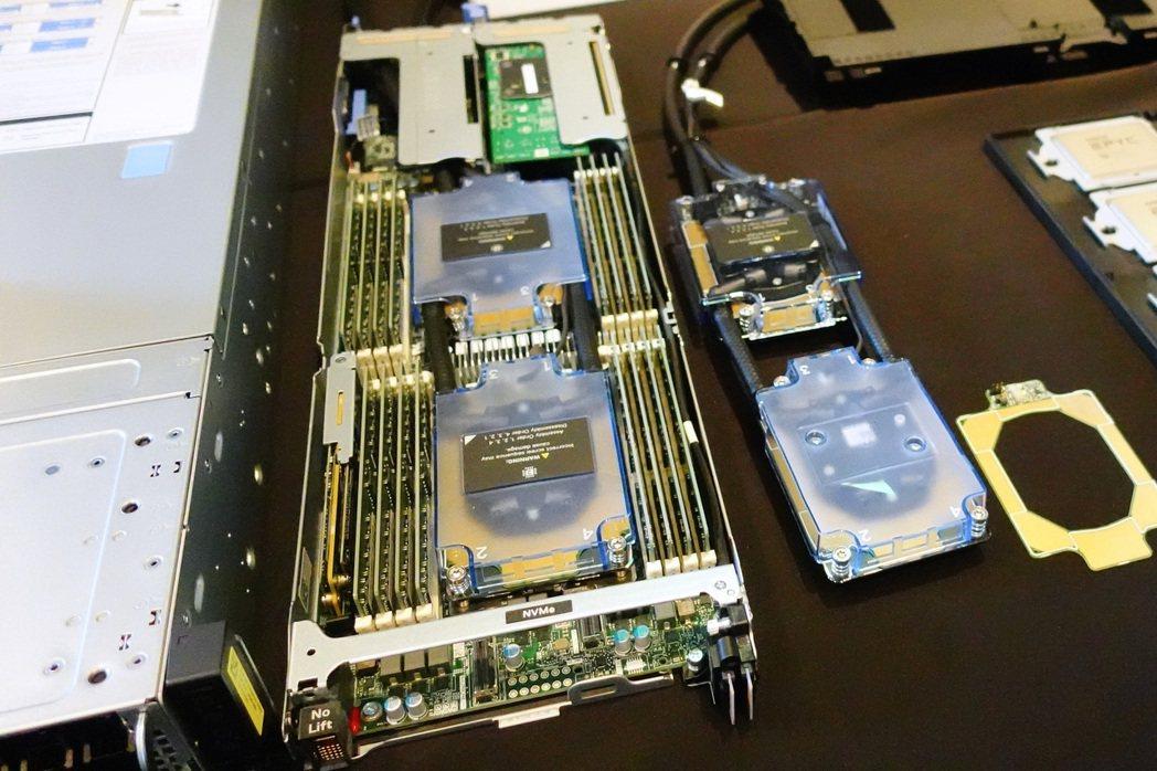 特定機種配備的Direct Liquid Cooling直接水冷系統則採用專利滲...