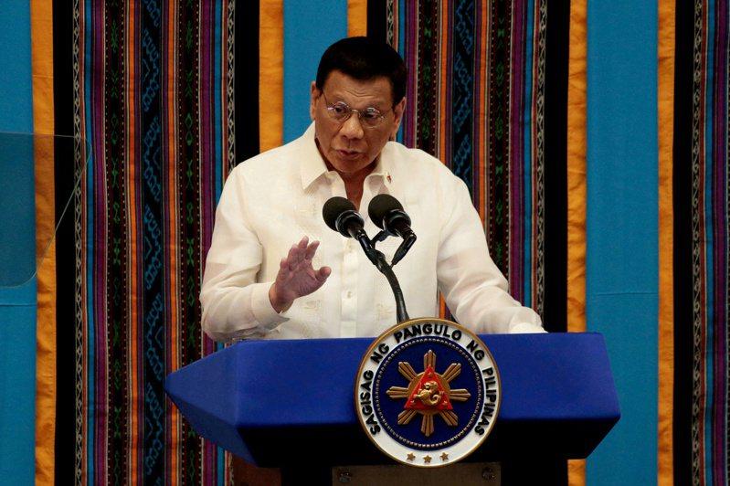 菲律賓總統杜特蒂。 路透社