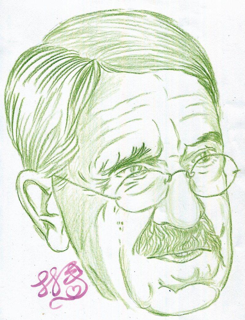 杜威(John Dewey; 1859-1952)林一平繪