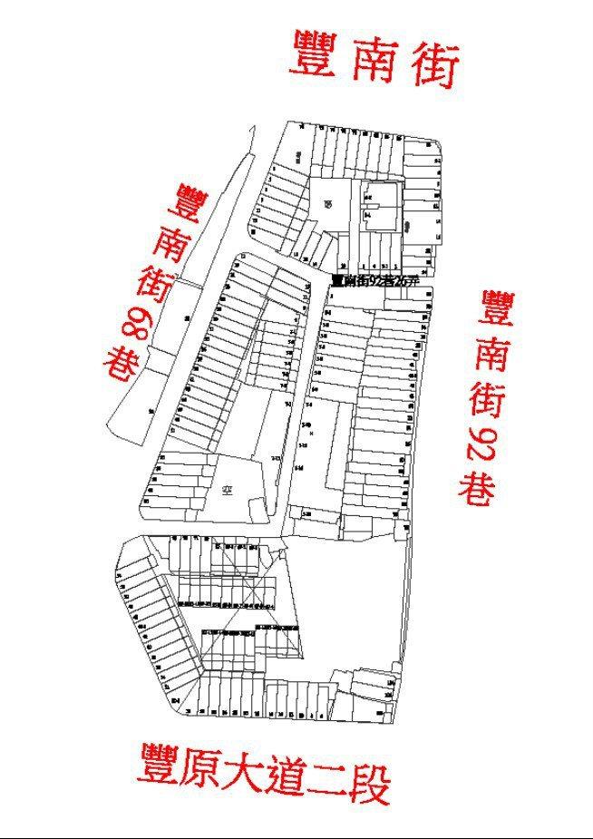 台中市汚水水道豐原區豐田里公告範圍。圖/台中市府水利局提供