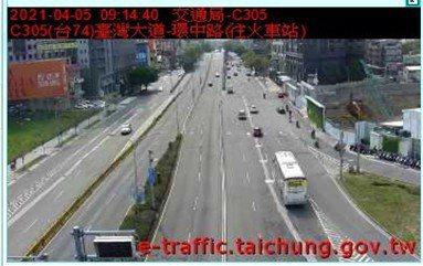 今天是清明連假最後一天,台中市所轄的國道匝道,截至上午10為止都屬順暢狀況,僅國一大雅匝道車多。圖/台中市交大提供