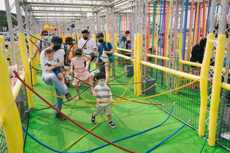 2021新竹市兒童藝術節讓孩童連玩四天。圖/新竹市政府提供