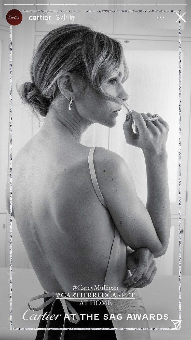 凱莉墨里根配戴卡地亞祖母綠鑽石珠寶。圖/取自IG @cartier