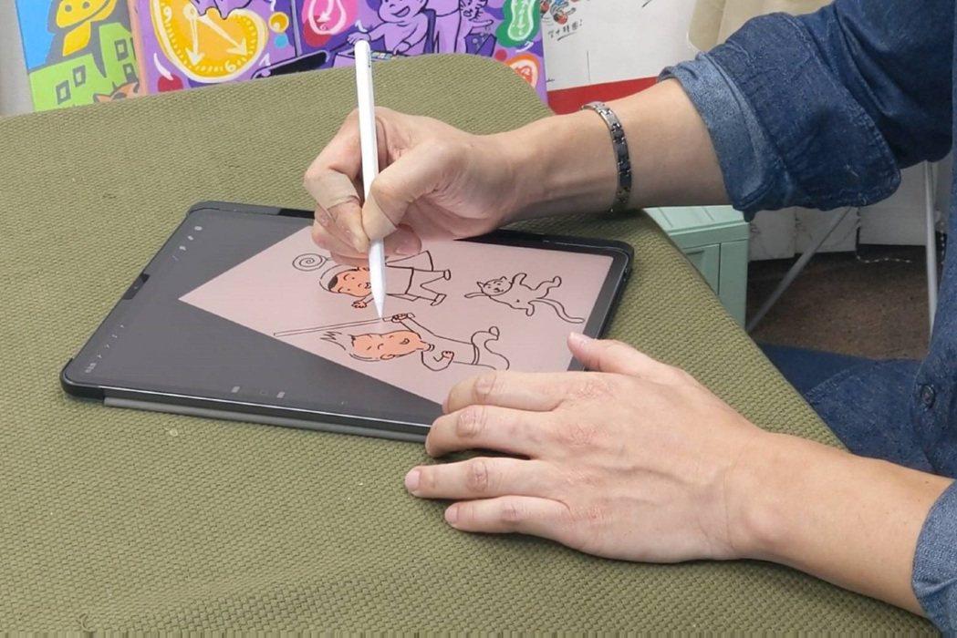 蔣偉文的卡通皆以數位方式繪製而成。圖/艾迪昇傳播提供