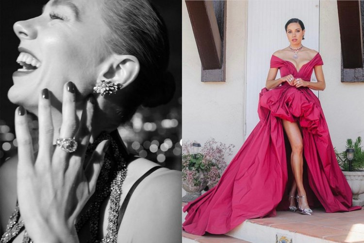 凡妮莎寇比與朱妮絲莫利特配戴紅寶石珠寶。圖/取自IG